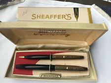 Sheaffer 1000 Dolphin Imperial Fountain Pen & Pencil Minty Condition 14K Nib WOW
