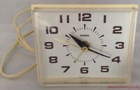 Vtg Wards Electric Clock With Second Hand USA Works Can't Set Alarm FR SHP