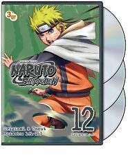 Naruto: Shippuden - Box Set 12 (DVD, 2012, 3-Disc Set) NEW