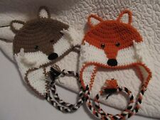 Crochet Fox Hat/Beanie - Made to Order - Baby to Adult Sizes