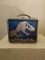 Jurassic World 2015 Metal Lunchbox Jurassic Park Universal Raptors Blue used