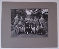 LARGE ORIGINAL PHOTO OF QUEEN MARY WITH RAF CIRENCESTER BY W. DENNIS MOSS