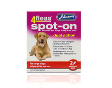 Johnson's 4Fleas Spot On solution for large dogs weighing 25kg +   - Dual Action