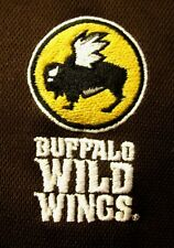 BUFFALO WILD WINGS athletic polo shirt lrg Grill & Bar embroidery BW3 logo
