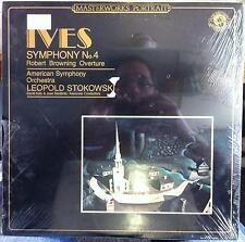 LEOPOLD STOKOWSKI ives symphony no 4 LP Sealed MP 38890 Vinyl 1983 Record