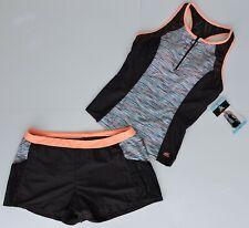 Zeroxposur Women's Sorbet &  Black Tankini with Swim Shorts 2pc Swimsuit $94