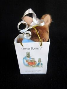 "Beatrix Potter Peter 4"" Rabbit Mini Plush in Gift Bag Eden Toys Frederick Warne"