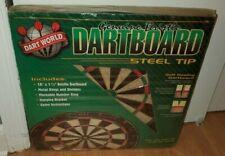 New Dart World Bristle Genuine Steel Tip Dart Board