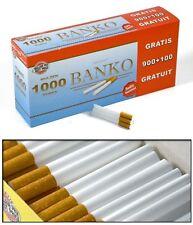 BANKO - LOT 5000 TUBES A CIGARETTES AVEC FILTRES EN MOUSSE (5 BOITES) PRIX MINI