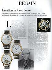 ▬► PUBLICITE ADVERTISING AD MONTRE WATCH A Lange & Söhne mécanisme Walter Lange