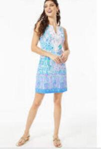 Lilly Pulitzer Gabby Stretch Shift Dress Sz 0 NWT Full Bloom Multi Retail $198