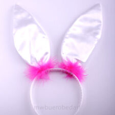 Bunnyohren Hasenohren Kostüm Kopfschmuck Fasching rosa Bunny SEXY NEU+OVP