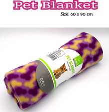 Pet Blanket Dogs,Puppy ,Cat Soft & Warm Fleece Bed Travel Basket Car 60 x 90cm