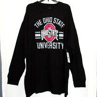 Ohio State Shirt NEW Mens 5X Long Sleeve 5XL Big & Tall Banner Tee NCAA Buckeyes