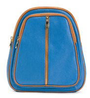 VALENTINA Made In Italy Blue Convertible Pebbled Leather Backpack MSRP $199.99