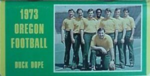 1973 OREGON DUCKS FOOTBALL MEDIA GUIDE (DICK ENRIGHT & STAFF CVR