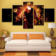 Guru Nanak Sikhism 5 Pieces Canvas Wall Art Printed Picture Poster Home Decor