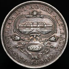 More details for 1927 | australia george v one florin 'parliament house' | silver | km coins