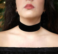 38mm Thick Black Velvet Suede Choker Wide NEW CELEBRITY TREND