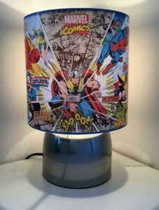 Marvel Avengers Superhero 1 Touch lamp -3 settings boys bedroom night light