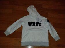 Zara Baby Boys Hoodie Size 3-4 White