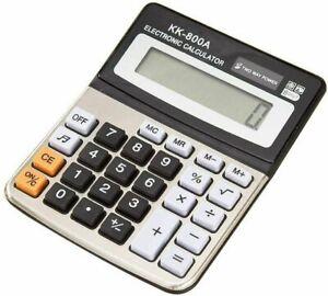 Jumbo Desktop Calculator 8 Digit Large Button Pop Up Display Battery included