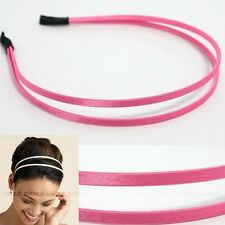 CELEB DOUBLE HAIR HEADBAND GOSSIP GIRL HOTPINK HB1055