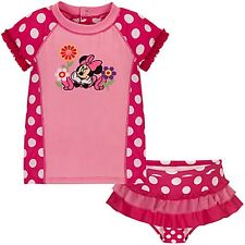 DISNEY Store Minnie Mouse Rashguard Swimsuit for Baby Girls Size  6-12 Months