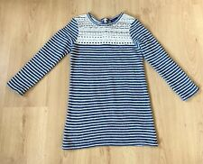 Next Girls Dress age 7  Casual Smart Stripy Lace Breton Stripes Striped