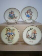 Lot Of 4 Goebel/Mj Hummel Decorative Collector Annual Plates,1975-1978-7.5""