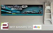 Mercedes Petronas GP F1 Team 2018 Banner, Garage, Workshop, AMG, Lewis Hamilton