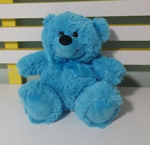 ELKA BEAR BLUE BEAR SOFT TOY PLUSH TOY 23CM TALL!