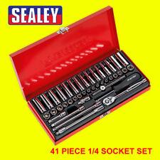 """Sealey Premier AK690 41 PC Piece 1/4"""" SQ Square Drive Chrome Socket set"""
