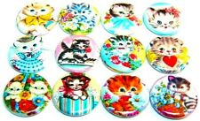 """12 Vintage KITTENS Cute Cats Buttons Pinbacks 1"""" Pins Badges Retro KITTY Images"""