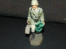 Elastolin Lineol Soldaten mit MG Kiste Selten!