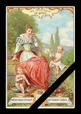 French Victorian Trade Card: Liebig - Les Cinq sens - (the five senses)