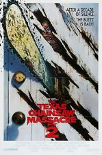 THE TEXAS CHAINSAW MASSACRE PART 2 (1986) ORIGINAL VERSION B FOLDED MOVIE POSTER