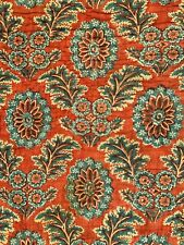18th Century French quilt antique Piquee Boutis blue red 1700's vintage textile