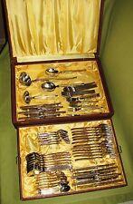 Ebel Edelstahl/Golddekor Besteck Art Deco Molygan f. 12 Pers.