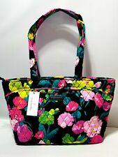 NWT $88 Vera Bradley MANDY HILO MEADOW Floral top zip Tote shoulder bag