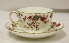 Vintage Minton Ancestral Fine Bone China England Teacup and Saucer Pattern s-376