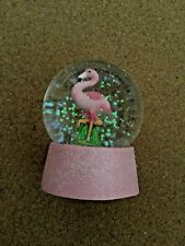 Flamingo waterball snow globe pink sparkly