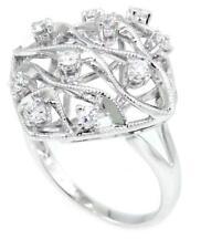 Splendid 0.45 CT Round Diamonds Cocktail Ring 14k White SOLID Gold