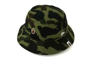 A BATHING APE × New Era 1ST CAMO BUCKET HAT Green From Japan free shipping New