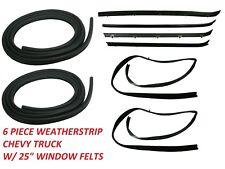 RUBBER Door Window Run Sweep Felts Weatherstrip Seals Kit Set Chevy GMC Truck