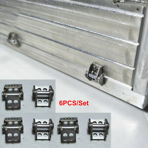 6PCS Metal Cargo Container Hinge for Tamiya 1/14 Scania 56323 RC Tractor Trailer