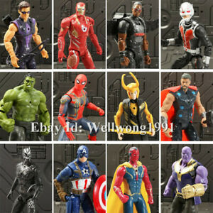 Marvel Avengers EndGame Spider-Man Vision Thanos Action Figure Toys Loose 6""