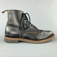 BROTHER BRIDGE Size 9 Black Leather DEWY Ankle Boots