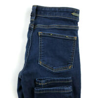 Anthropologie Pilcro And The Letterpress Womens 27 Serif Skinny Dark Wash Jeans