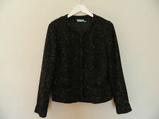 Blue Illusion Wool Blend Boucle Jacket Size Small